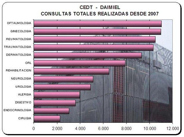 Consultas realizadas en el CEDT (2007-2010)