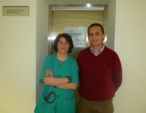Los  coordinadores  de trasplantes del Hospital de Ciudad Real,  Dra. Marisol Martínez y el enfermero  Juan Carlos Muñoz