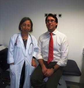 La Dra. Elisa Gómez  y el Dr. Joaquín Rodríguez, coordinadores de la Unidad Monográfica Interhospitalaria sobre Esofagitis Eosinofílica