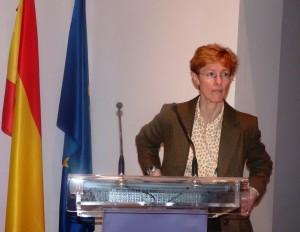 Dra. Gema Frühbeck durante su  conferencia sobre obesidad